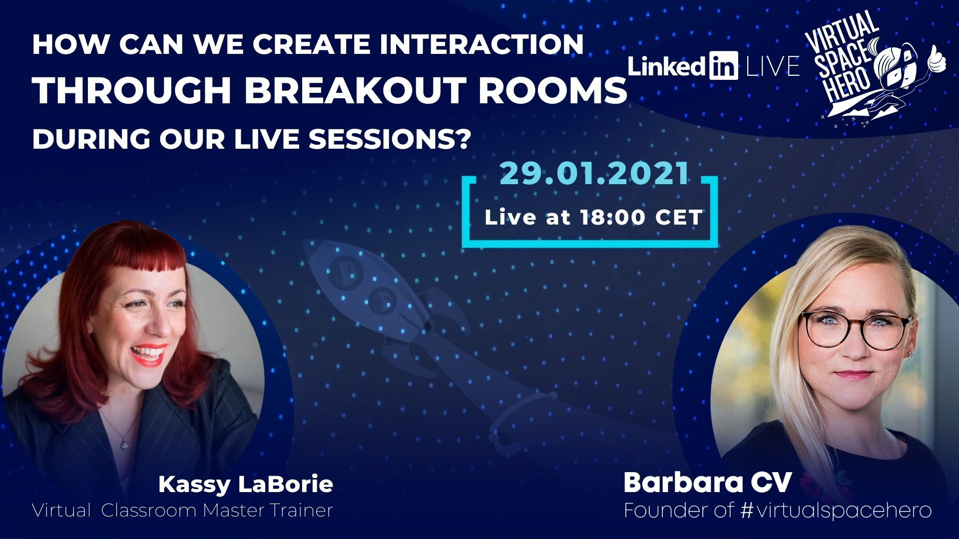 How can we create interaction with breakout rooms in our virtual live sessions?